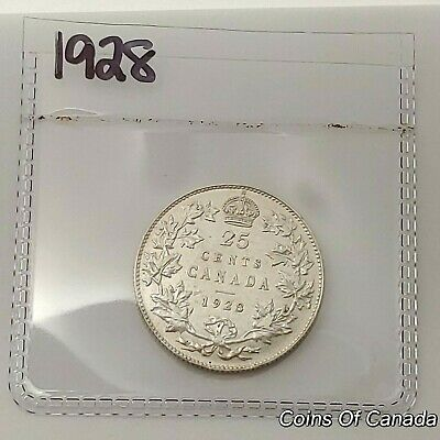 1928 Canada Silver 25 Cents Coin - Sealed In Acid-Free Package #coinsofcanada