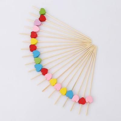 100Pc Cocktail Picks Bamboo Snowflak Multi-color Toothpicks Party Supplies 8M