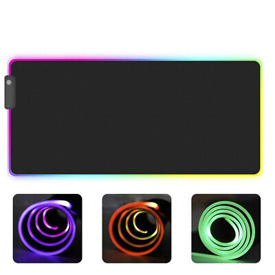 RGB Colorful LED Lighting Gaming Mouse Pad Mat for PC Laptop KK