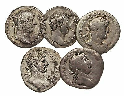 ROMAN IMPERIAL. Lot of 5 silver denari of Hadrian.