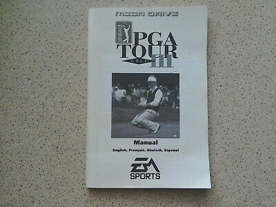 PGA Tour Golf 3 Manual - Sega Mega Drive - NO GAME MANUAL ONLY