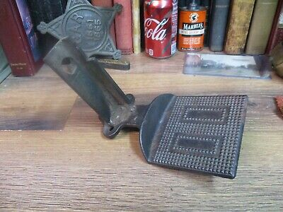 buggy step antique cast iron 3 hole horse drawn carriage foot hold side up