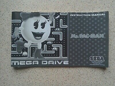 Ms. Pac-Man Manual - Sega Mega Drive - NO GAME MANUAL ONLY