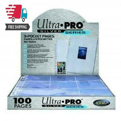 Ultra Pro 100Ct 9-Pkt Silver Series Standard Pages