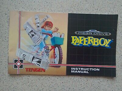 PaperBoy Manual - Sega Mega Drive - NO GAME MANUAL ONLY (PAL)