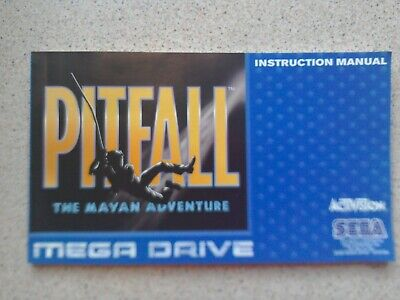 Pitfall Manual - Sega Mega Drive - NO GAME MANUAL ONLY (PAL)