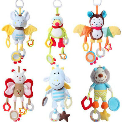 Baby Toys Infant Stroller Bed Cot Crib Hanging doll Infant Animal Rattles Toy IT