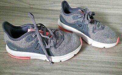 60c16dacfd NIKE GIRLS TODDLER Athletic Shoes Size 7 C L@@K !!! PINK WHITE GRAY ...