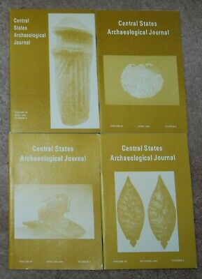 CENTRAL STATES ARCHAEOLOGICAL JOURNAL complete set Vol 40 no 1,2,3 & 4 1993