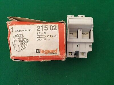 Legrand 21502 Din Rail Fuse Holder / Carrier 1P+N  14x51 Fuses