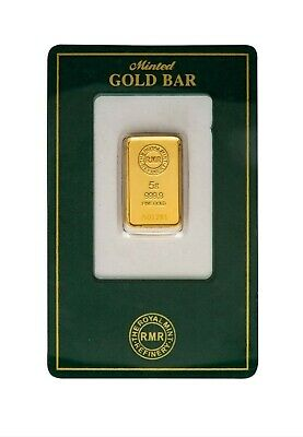 Royal Mint Refinery 5g 999.9 Fine Gold Bar Sealed With Certification