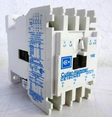 Cutler Hammer Ce15Cns3Bb Contactor; 3 Pole Open Type Aux; 1 N0-Side Coil