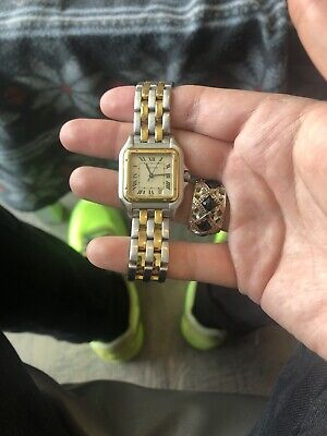 c9998984955b2 VINTAGE CARTIER PANTHERE 18k Tricolor Gold & Stainless Steel ...