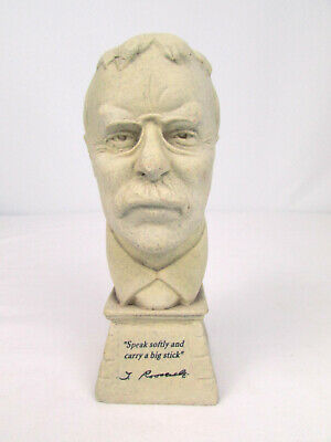 President Theodore Roosevelt Speak Softly & Carry A Big Stick 3-D Politics Bust