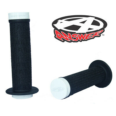 Polished BMX Grips 135mm with Alloy Ends ANSWER Pro Lock-On Flanged Grips