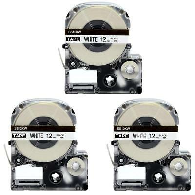 3 Pack LC-4WBN, LK-4WBN  Label Tape Compatible Epson LabelWorks Black on White