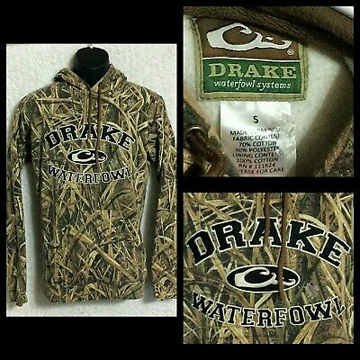 f03870bb79949 Drake Waterfowl Systems Mens Pullover Shadow Grass Blades Collegiate Hoodie  Sz S