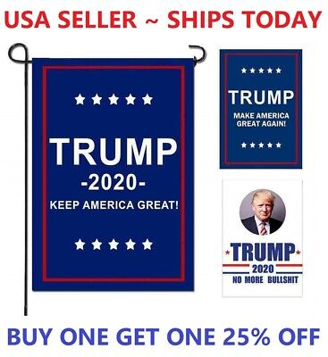 Trump 2020 Flag Keep Make America Great Again President MAGA USA 12x18