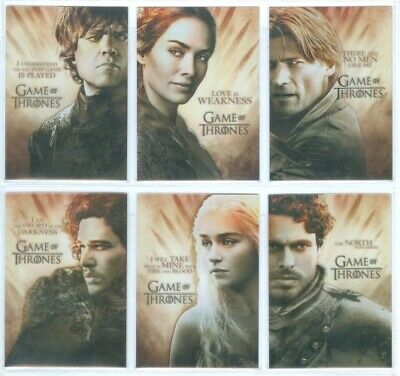 """COMPLETE GALLERY SET PL1-PL6"" GAME OF THRONES SEASON 2 Daenerys Jon Snow"