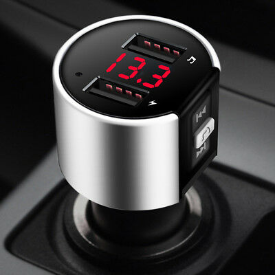 Bluetooth In-Car MP3 FM Wireless Transmitter Dual USB LCD Charger WMA Handsfree