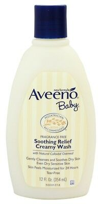 Aveeno Baby Soothing Relief Wash Fragrance Free 236ml