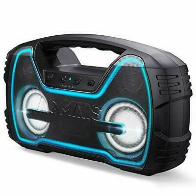 AOMAIS 25W Bluetooth Speakers with HD Stereo Sound & Deep Bass, Black
