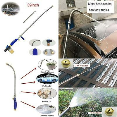 Buyplus Hydro Deep Jet Power Washer Wand - 39'' Long Extendable High...
