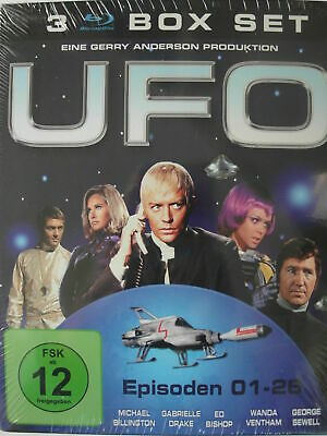 UFO All 26 episodes on 3 Blu Ray's of the TV SciFi cult series Gerry Anderson