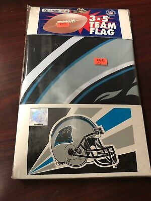 Official Vintage Carolina Panthers 3ft X 5ft Team Flag Emerson USA ~ Brand New!