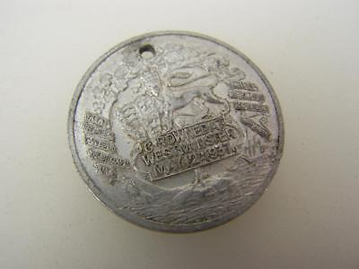 1937 metal medallion Coronation King George VI Queen Elizabeth              1601