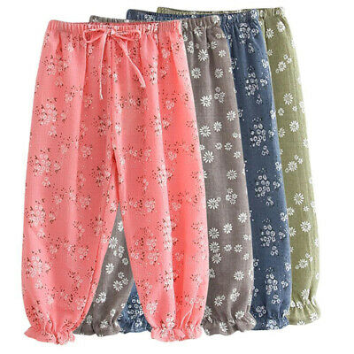 New Flower Leggings Bloomers Harem Pants Summer Floral Kids Trousers Printed