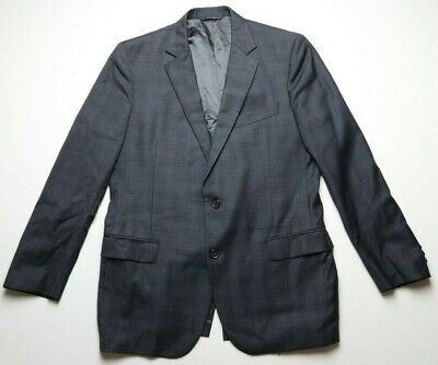 Brooks Brothers Mens Suit Jacket 1818 Fitzgerald Size 41R Gray/Blue 100% Wool