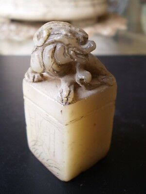 Antique Chinese Chop Seal with Mythological Animal Figure