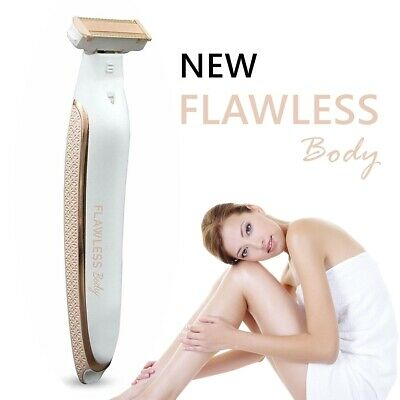 Flawless Body Rechargeable Ladies Shaver Trimmer Portable Painless Rose Gold AU