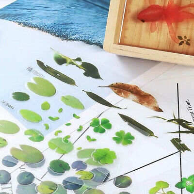 Simulation Fish Leaves Duckweed Stickers Resin Painting Goldfish DIY Crafts