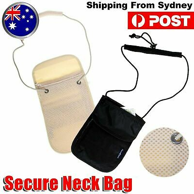Secret Wallet Holster Bag Passport Neck Pouch Travel Money Ticket Card Secure OZ