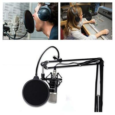 Recording Studio Microphone Pop Filter Wind Mic Screen Mask Shield Double Layer