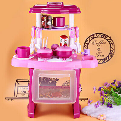 24Pcs Electronic Kitchen Cooking Toy Toddler Children Kids Cooker Role Play Set