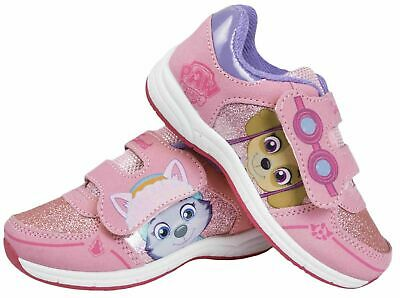 Girls Official Paw Patrol Characters Pink Jogging Trainers Shoes Size 5-10