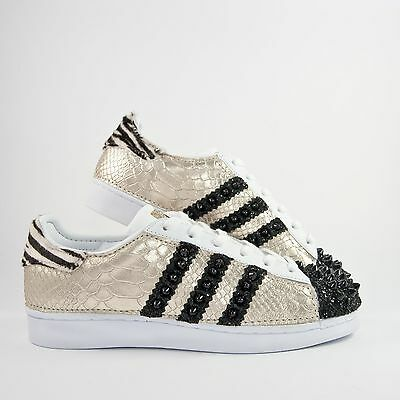 Details about Shoes Adidas Superstar with Mirrored & Rocking Horse Zebra More Sporcatura