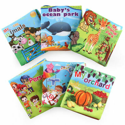 Intelligence Baby Newborn Development Cloth Bed Cognize Book Educational Toy Kid