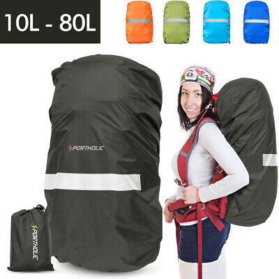 Waterproof Backpack cover 35L 80L Bag Camping Hiking Outdoor Rucksack Rain Dust