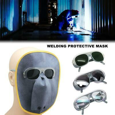 Electric Welding Protector Glasses Mask Cover safety goggles Leather Welder Hat