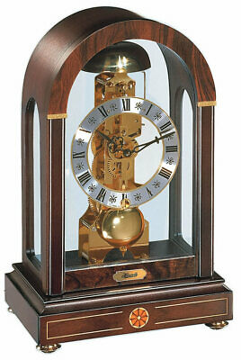 Hermle Stratford Mechanical Mantel Clock - Walnut - Strike on Hour