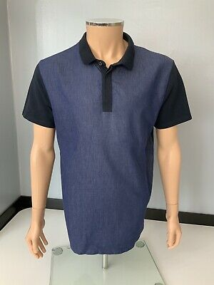 Valentino Mens Polo T Shirt, Size XL, Blue, Short Sleeve, VGC