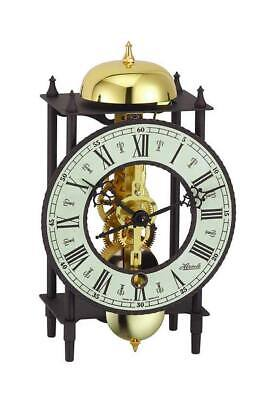 Hermle Mechanical Mantel Clock - Black Wrought Iron Iron - Strike on Hour