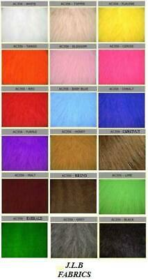 Long Haired Faux Fur Fabric - Multiple Lengths & Colours - AC 356