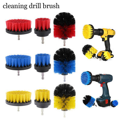 3Pcs Electric Power Scrub Drill Brush Scrubber Set Cleaning Kit Tile Grout Combo