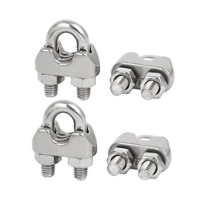 1X(M6 1/4 Inch 304 Stainless Steel U-Shape Bolt Saddle Clamps Cable Wire RoJ6Y6)
