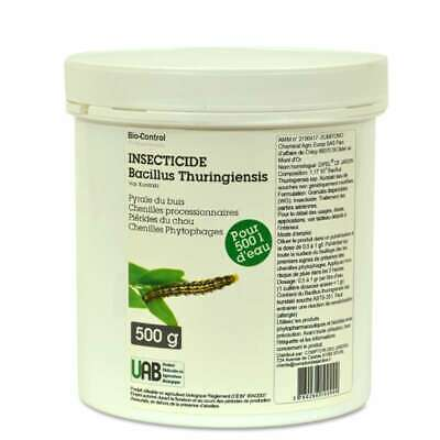 Insecticide Bacillus Thuringiensis pyrales et toutes chenilles UAB 500 g